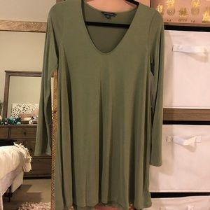 American Eagle Olive Flowy Dress
